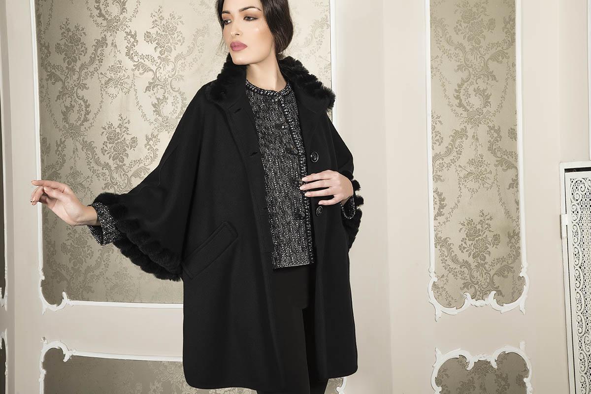 Aldo Colombo Collezione 2019 2020 autunno inverno cappotto elegante nero in lana