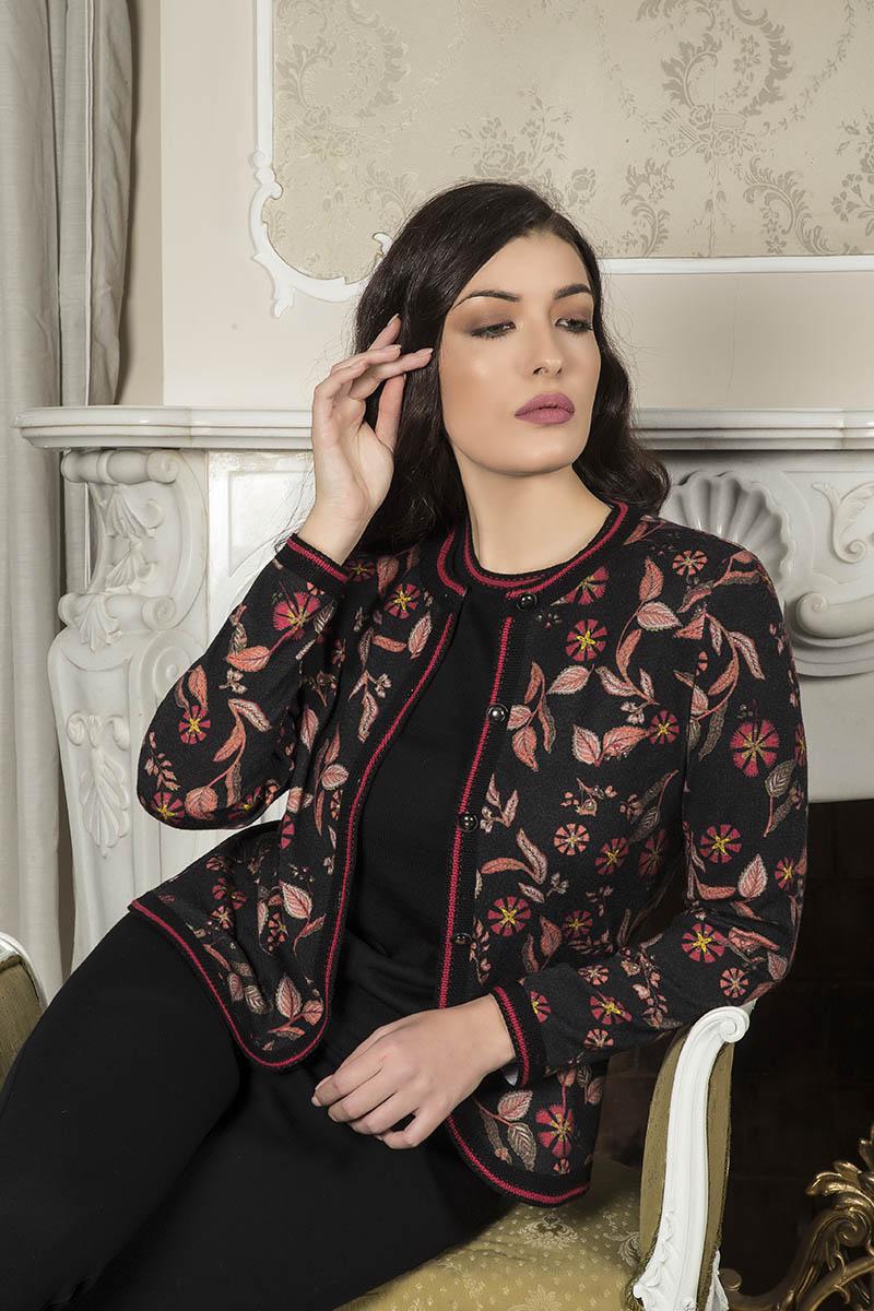 Aldo Colombo Collezione 2019 2020 giacca lana fiori