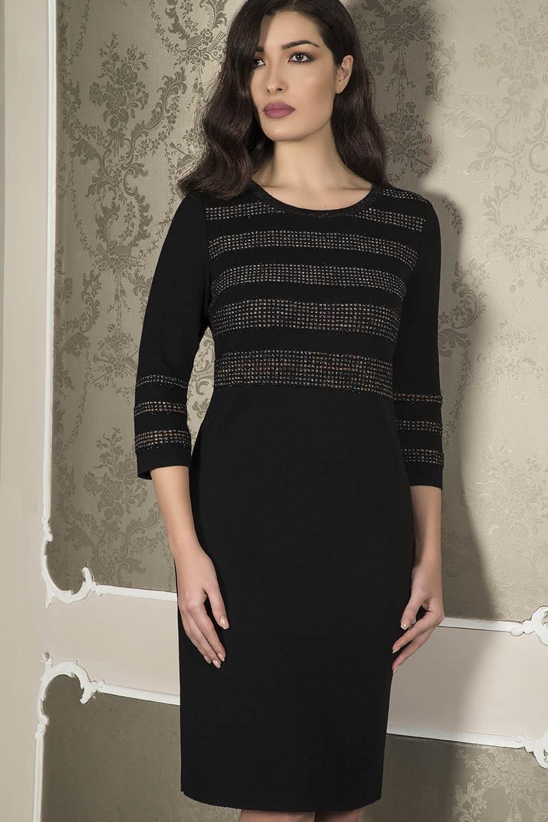 Aldo Colombo Collezione 2019 2020 vestito nero elegante lana