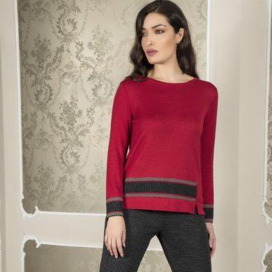 maglia rossa donna